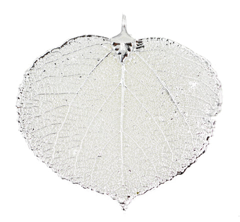 Real Leaf PENDANT ASPEN Dipped in Silver - Zhannel  - 1