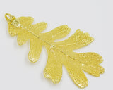 "Real Leaf Christmas ORNAMENT Lacey OAK 3"" Dipped in 24K Yellow Gold - Zhannel  - 2"