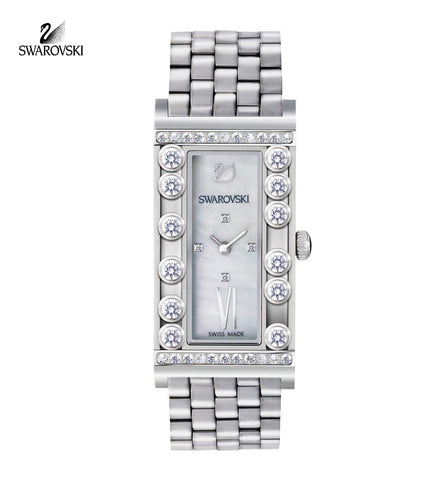 Swarovski LOVELY CRYSTAL SQUARE Swiss WATCH Stainless Steel #5096684 - Zhannel  - 1