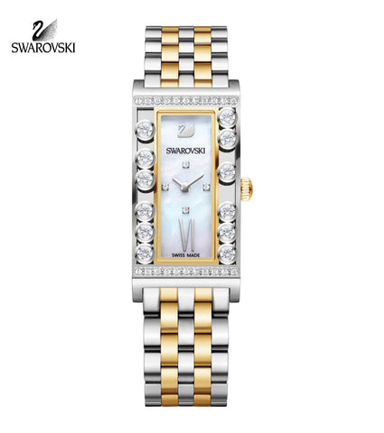 Swarovski LOVELY CRYSTAL SQUARE WATCH 2-tone Stainless Steel #5096689 - Zhannel  - 1