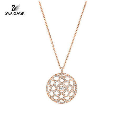 Swarovski Crystal Jewelry Pendant DAYLIGHT Necklace Rose Gold #5204170 - Zhannel  - 1