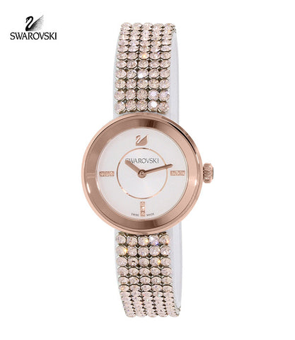 Swarovski Crystal Watch Piazza Mini Mesh Rose Gold Tone #5027319 - Zhannel  - 1