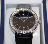 Swarovski Clear Crystal Swiss Watch CITRA SPHERE BLACK #1116550 - Zhannel  - 2