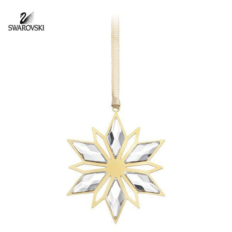 Swarovski Clear Crystal Christmas Ornament GOLDEN STAR #5064267 - Zhannel  - 1