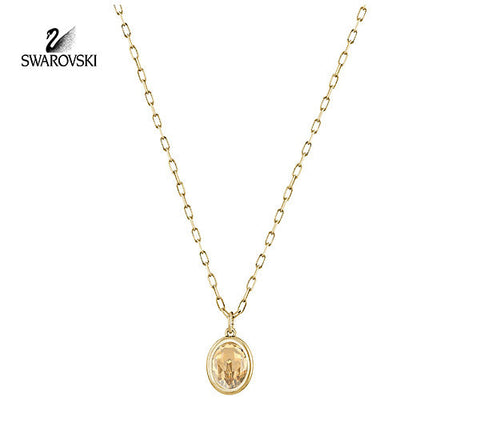 Swarovski Golden Crystal Jewelry LASER PENDANT Necklace Yellow Gold #5101246 - Zhannel