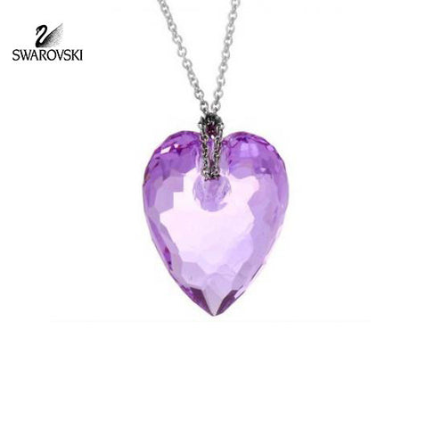 Swarovski Violet Crystal MINI NECTAR PENDANT Rhodium Necklace #5187490 - Zhannel  - 1