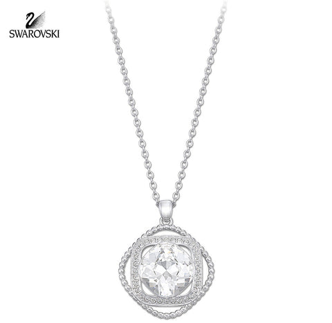 Swarovski Clear Crystal ABANA Pendant Necklace Rhodium Plated #5036787 - Zhannel  - 1
