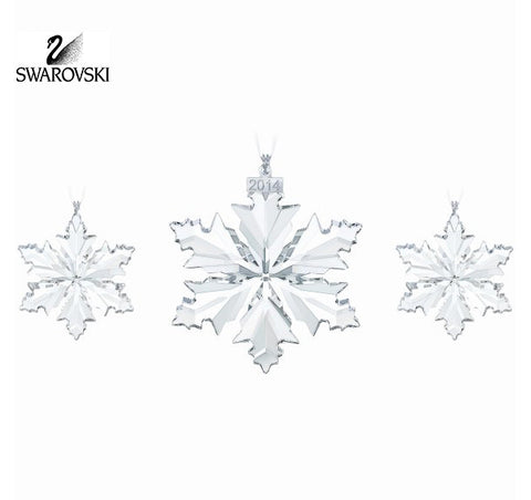 Swarovski Crystal Christmas SNOWFLAKES 2014 Ornaments Set of 3 #5059030 - Zhannel  - 1