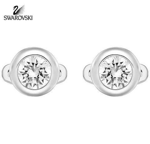 Swarovski Men's Cufflinks DRAFT Clear Crystal Stainless Steel #5159698 - Zhannel  - 1
