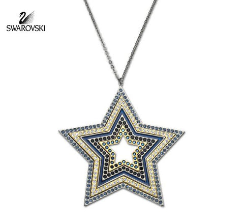 Swarovski Multicolor Crystal Star Pendant Necklace SULTAN 70cm #1165488 - Zhannel  - 1