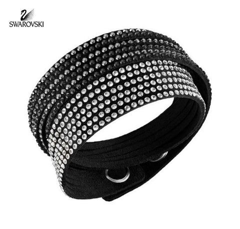 Swarovski Crystal Jewelry SLAKE Black 2 in 1 Bracelet #5142963 - Zhannel  - 1