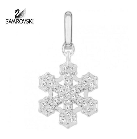 Swarovski Clear Crystal Christmas Jewelry SNOWFLAKE Small Charm #1064986 - Zhannel