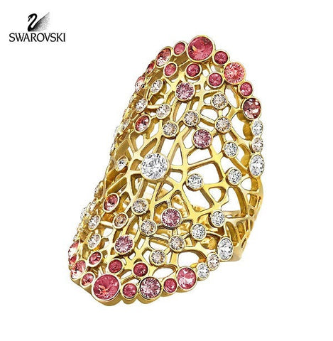 Swarovski Color Crystal Jewelry ELINOR Ring Gold Plated Small/52/6 #5221507 - Zhannel  - 1
