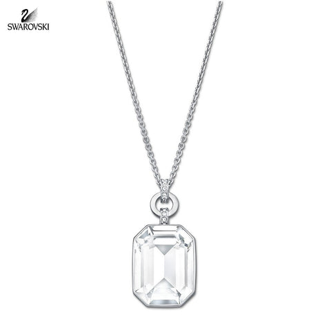 Swarovski Clear Crystal Pendant Necklace ACCESS Rhodium #5020061 - Zhannel  - 1