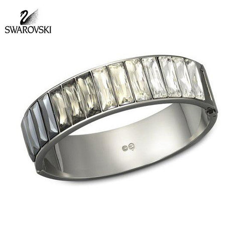 Swarovski Crystal Bracelet Bangle PLATINIUM Medium #1098485