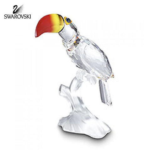 Swarovski Crystal Bird Figurine Feathered Beauties TOUCAN #234311