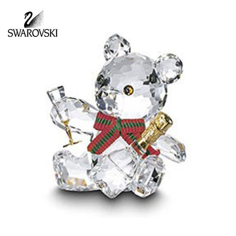 Swarovski Crystal Figurine Kris Bear w/Champagne CELEBRATION #7637NR000005
