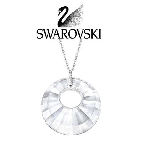 Swarovski Crystal Silver TURN Pendant Necklace #1182702 - Zhannel  - 1