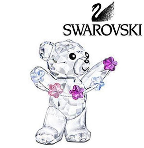 Swarovski Crystal Figurine Kris Bear-Flowers For You  # 5076626 New - Zhannel  - 1