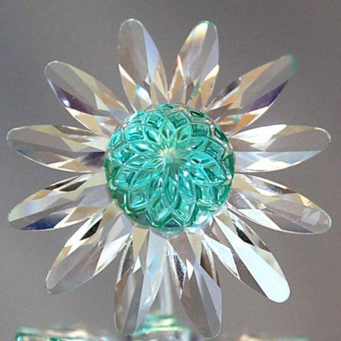 Swarovski Green Marguerite Crystal Daisy Flower Cake Topper #277537 Limited - Zhannel
