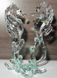 Swarovski Crystal Figurine Sea Horses #0885589 Box New - Zhannel  - 2