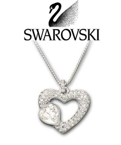 Swarovski Clear Crystal Silver EMOTION Heart Pendant Necklace #843865 - Zhannel  - 1
