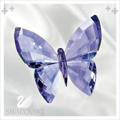 Swarovski Colored Crystal Figurine Butterfly Provence Lavender #5155714 Box New - Zhannel  - 1