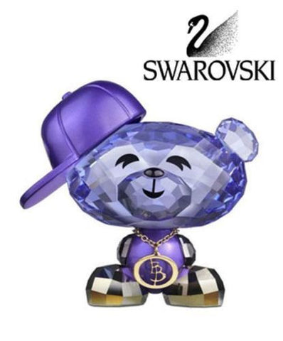 Swarovski Colored Crystal Figurine Bo Bear Hip-Hop Bo #1186631 New - Zhannel  - 1