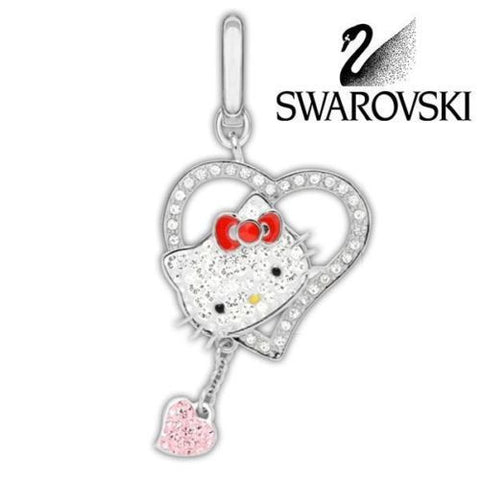 Swarovski Crystal Charm HELLO KITTY ICONIC HEART Charm #1097222 New - Zhannel  - 1