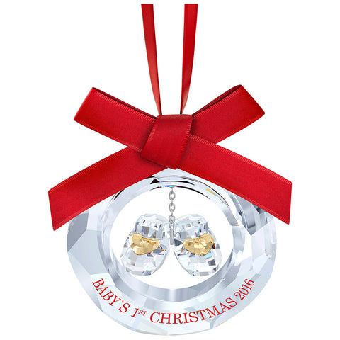 Swarovski Christmas Ornament BABY'S FIRST CHRISTMAS 2016 #5222558