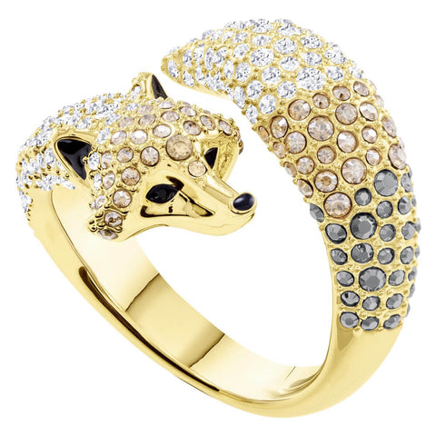 Swarovski Crystal Ring MARCH FOX, Yellow Gold