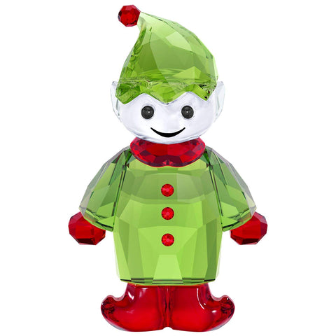 Swarovski Crystal Christmas Figurine SANTA'S HELPER, Green -5286532