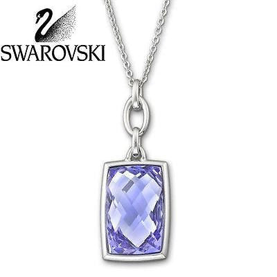 Swarovski Crystal Silver NIRVANA Pendant Necklace Tanzanite #1144361 New - Zhannel  - 1