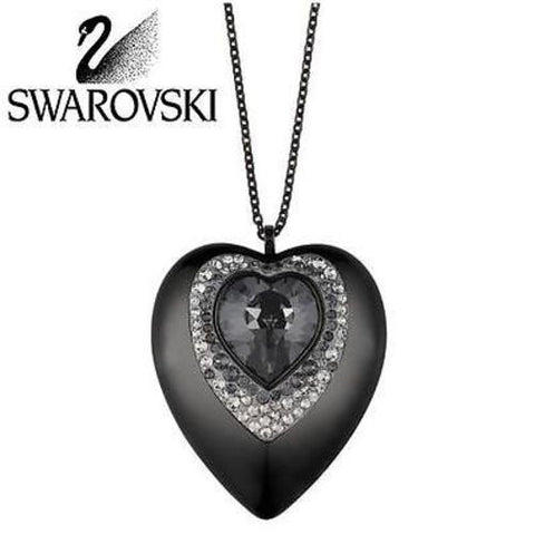 $180 Swarovski Crystal JEWELRY USB 8 GB Heart Pendant Silver Night #5064558 New - Zhannel  - 1
