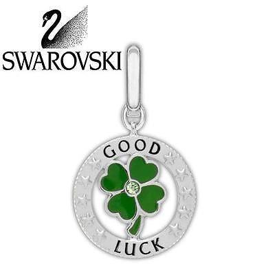 Swarovski Crystal Irish Clover COIN Good Luck Charm  # 1161009 - Zhannel