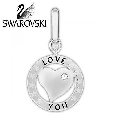 Swarovski Crystal Clear HEART COIN Love You Charm  # 1161010 - Zhannel