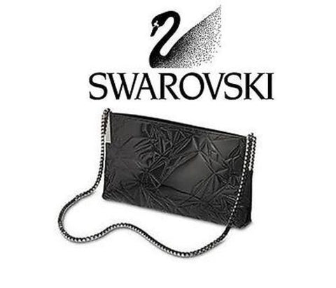 $360 Swarovski DAIQUIRI BLACK Evening Dress BAG PURSE w/crystals New #910445 - Zhannel  - 1