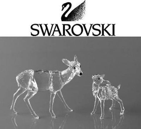 Swarovski Crystal Figurine ''DOE & FAWN'' deers #5001052 New - Zhannel
