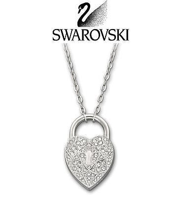 Swarovski Crystal SILVER Necklace HEART SURELY  #1156310 New - Zhannel  - 1