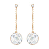 Swarovski Pierced Earrings, GLOBE, White, Rose Gold -5278375
