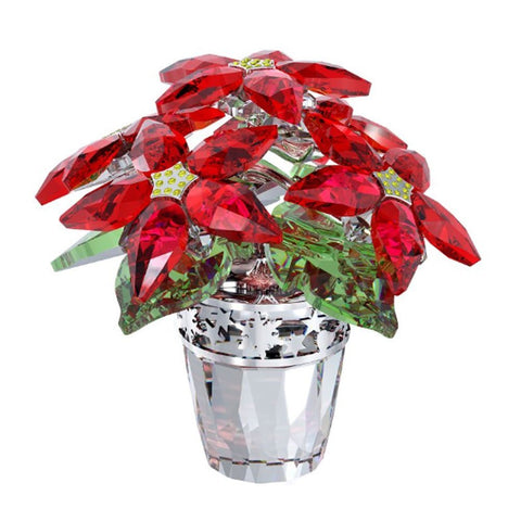 Swarovski Crystal Christmas Flower Figurine POINSETTIA LARGE #1139997