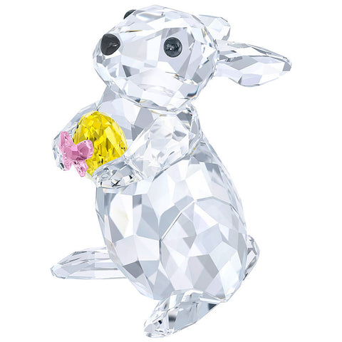 Swarovski Crystal Figurine RABBIT WITH YELLOW EASTER EGG -5274174