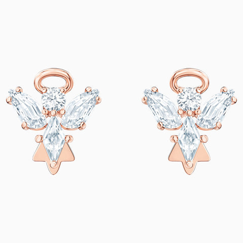 Swarovski MAGIC ANGEL STUD PIERCED EARRINGS, White, Rose Gold Tone -5498971