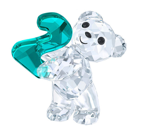 Swarovski Crystal Figurine KRIS BEAR NUMBER TWO Number 2 Birthday #5063342