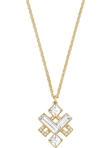 Swarovski Clear Crystal Gold Plated Pendant ELOQUENT KNOT #5186447