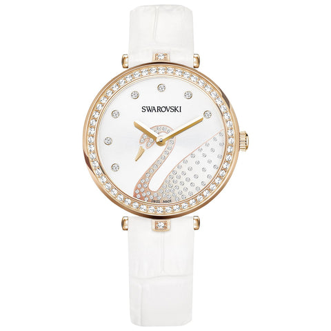 Swarovski Aila Dressy Lady Swan Leather Ladies Watch -5376639