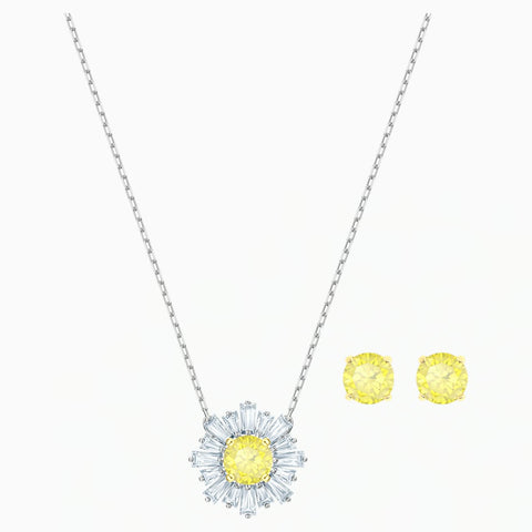 Swarovski SUNSHINE SET Studs & Necklace, Yellow -5480464