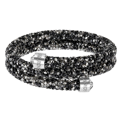 Swarovski CrystalDust Bangle Bracelet, Dark Crystals, Medium-5237757