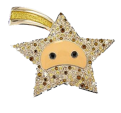 Swarovski Crystal Shooting Star Magic Wand Brooch #1024720
