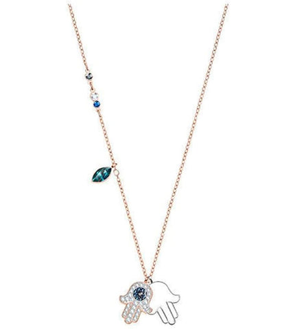 Swarovski Necklace DUO HAMSA HAND Pendant, Multi-Colored - 5396882